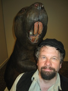 Steve Vernon with a beaver... so Canadian!!