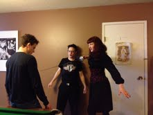 A glimpse of sword-fighting rehearsals for The Courtesan Prince Play, courtesy of Michelle Carraway.