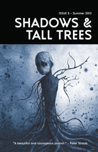 Cover photo of Shadows and Tall Trees Summer 2013 courtesy of Michael Kelly