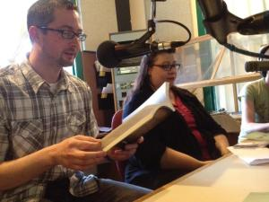 Ian Rogers and Sandra Kasturi in the studio at Trent Radio