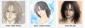 Three Versions of Amel by Yukari Yamamoto.