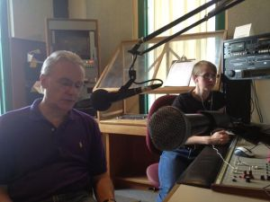 Douglas Smith and Alissa Paxton in the Trent Radio Studio