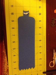 Blue Batman bookmark (without bat symbol)