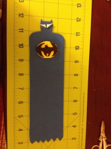 Blue Batman Bookmark with bat symbol