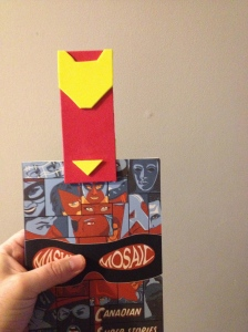 Iron Man bookmark in Masked Mosaic
