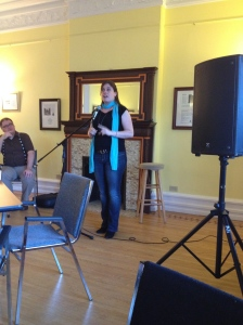 Marie Bilodeau reading at Sadleir House