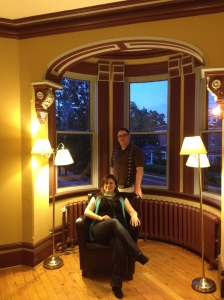 Marie Bilodeau and Derek Newman-Stille at Sadleir House for the author reading A Mythic Night