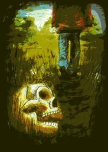 Artwork for Kate Heartfield's Their Dead So Near in Lackington's issue 1 by Luke Spooner